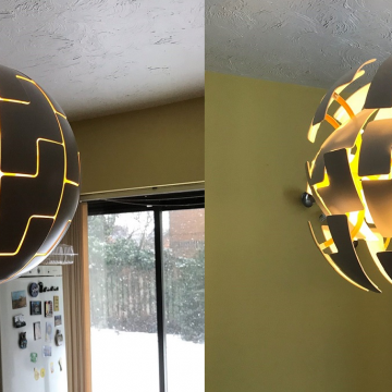Ikea pendant light fitting, supplied by customer