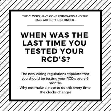 When was the last time you tested your RCD?